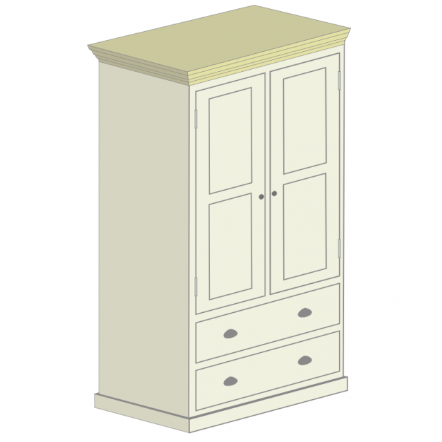 2 Drawer Double Wardrobe