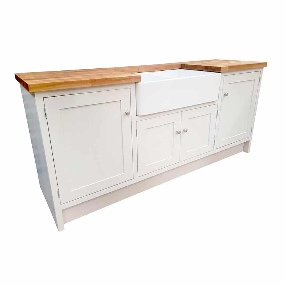 Double Belfast Freestanding Sink Unit with Cupboards