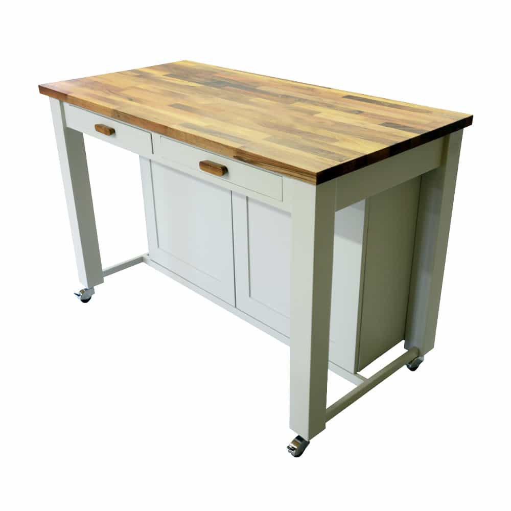 Freestanding Kitchen Island Unit With Cupboard