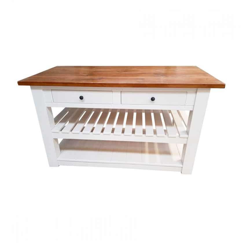 Freestanding Medium Rustic Kitchen Island Unit